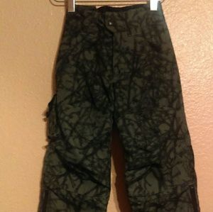 Columbia insulated black and gray snow pants